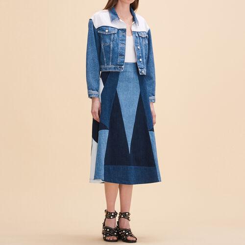 Falda vaquera de godets : Faldas y shorts color Denim