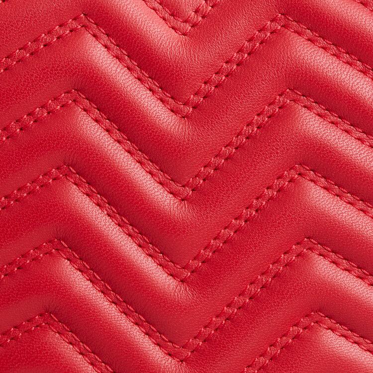 Bolso alforja de corazón, piel acolchada : Esenciales color Rojo