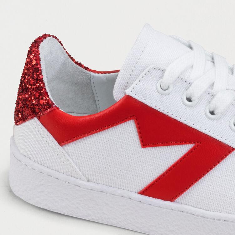 Deportivas con detalles a contraste : Sneakers color Blanco