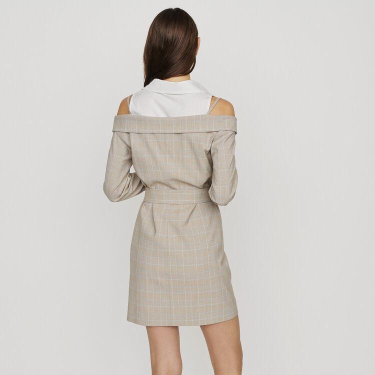 Vestido corto trompe l'œil : Vestidos color CARREAUX