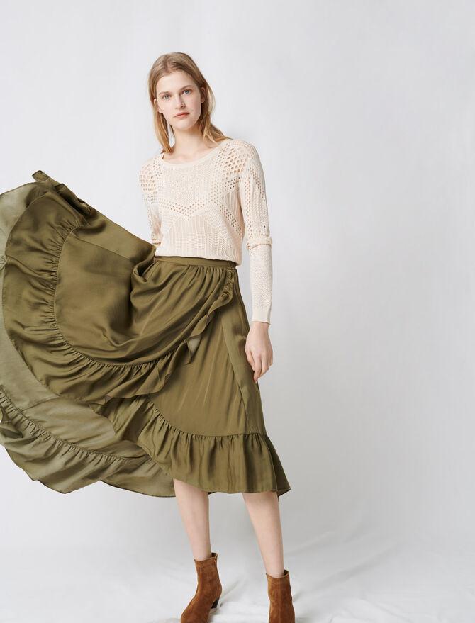 Falda bohemia con volantes - Faldas y shorts - MAJE