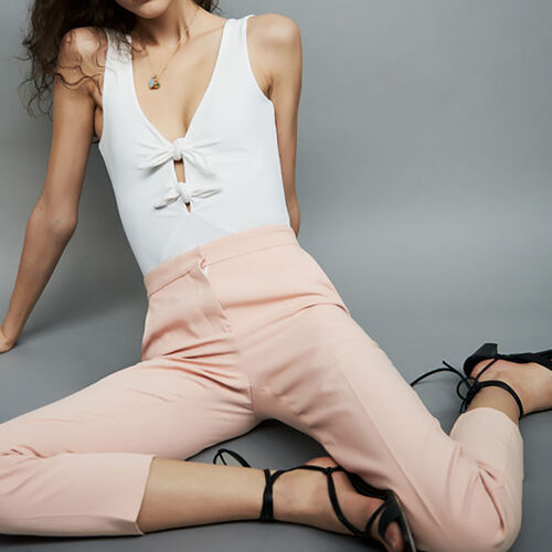 Straight leg trousers : Pantalones color Rosa
