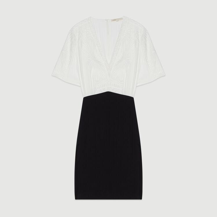 Vestido de guipur : Vestidos color Blanco Roto
