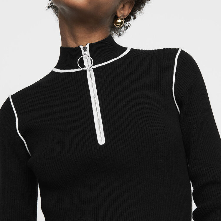 Jersey cuello caminero de punto : Nueva Colección color Negro