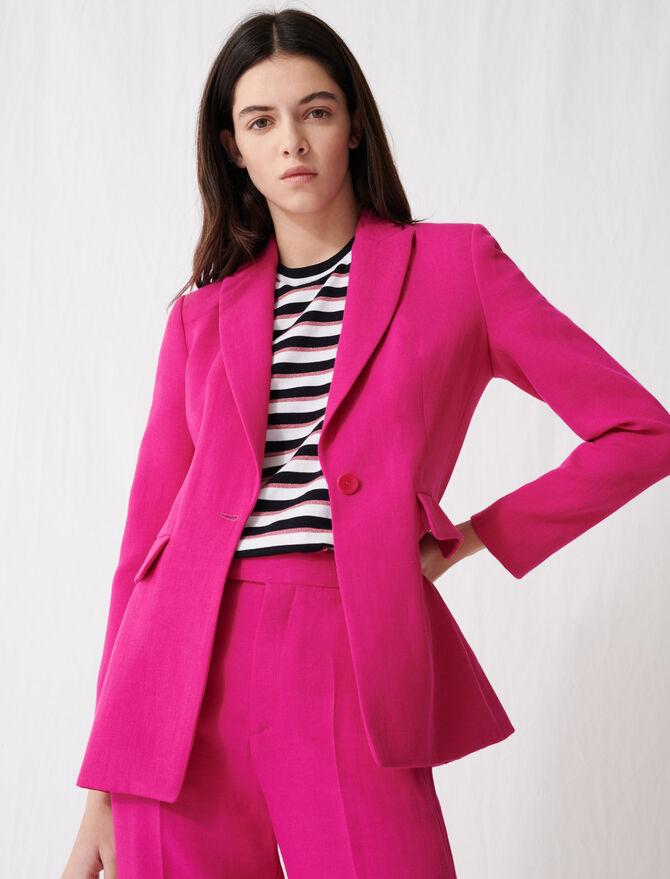 Chaqueta de traje rosa fucsia - Chaquetas - MAJE