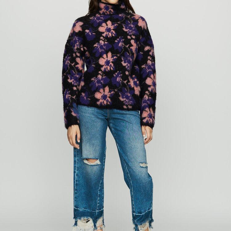 Jersey estampado en lana mezclada : Malla color Multicolor