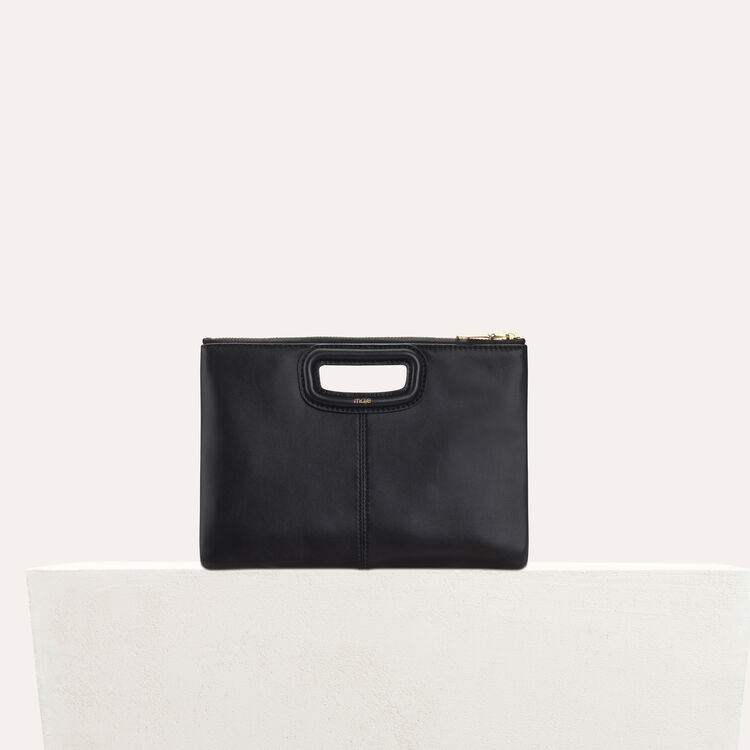 Cartera M Duo en cuero : M Duo color Negro
