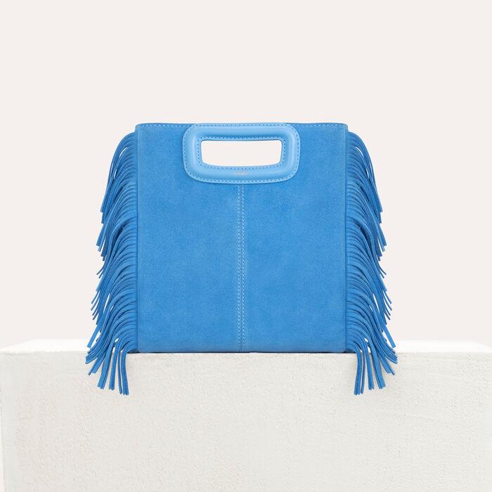 Bolso M de cuero de gamuza : Bolsos M color Azul