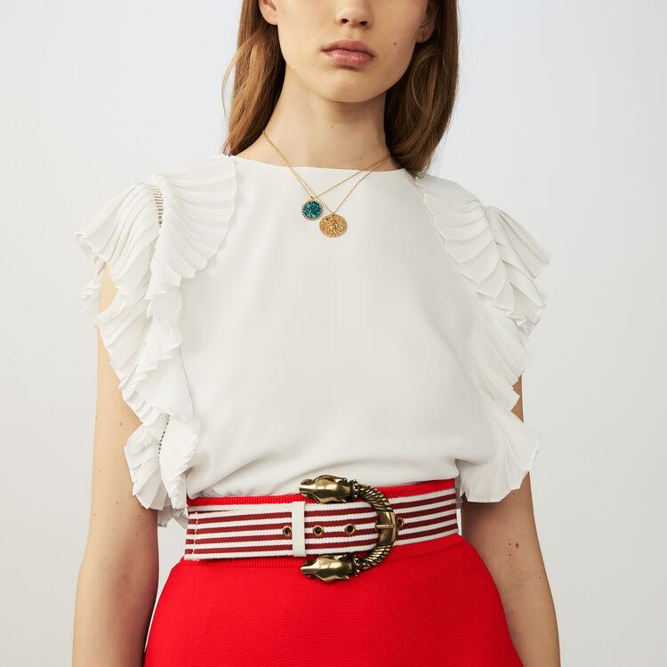 Cinturón de rayas de algodón : Cinturones color Rojo