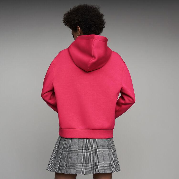 Sudadera oversize con capucha : Sudareras color Fucsia