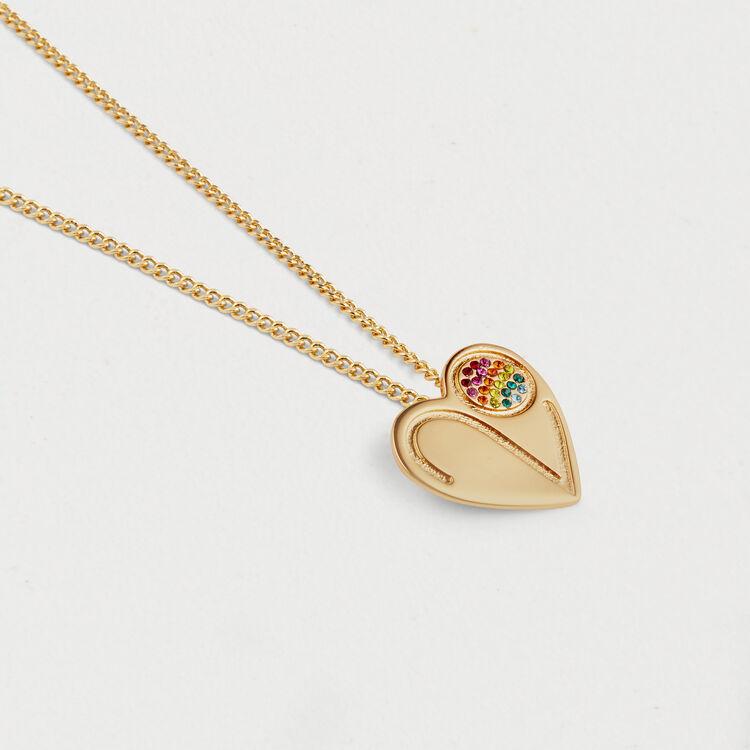 Collar con medallón corazón : Bisuteria color OR