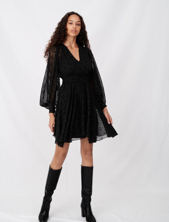Vestido de muselina con motivos calados - Toda la colección - MAJE