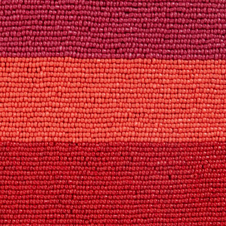 Bolso M de piel de cordero con perlas : Bolsos M color Frambuesa
