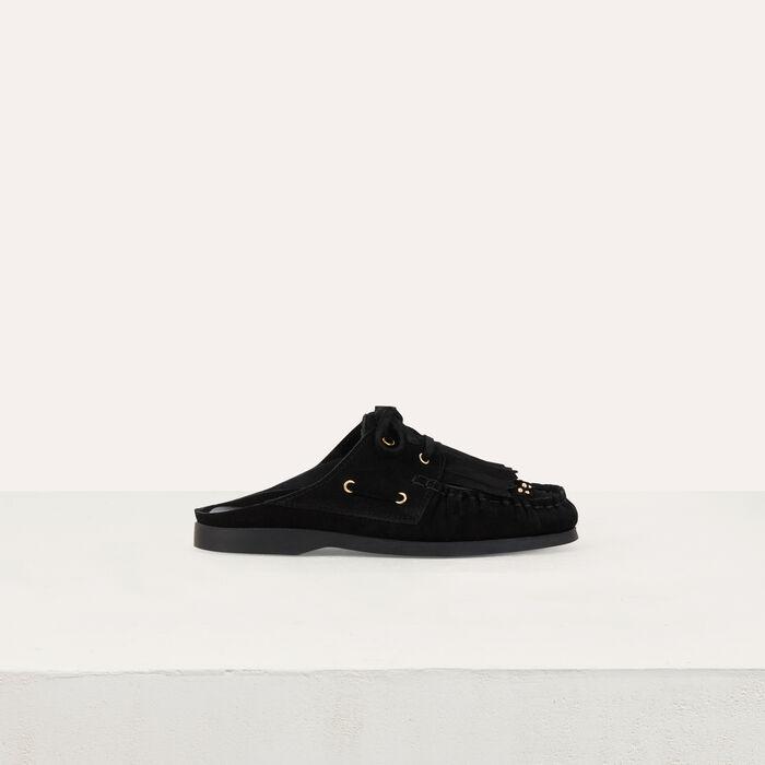 Float shoes in suede : Zapatos planos color NEGRO