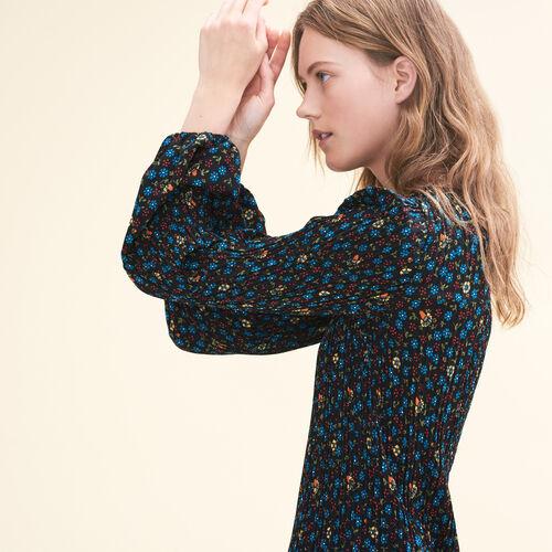 Vestido plisado estampado : Ver todo color IMPRIME