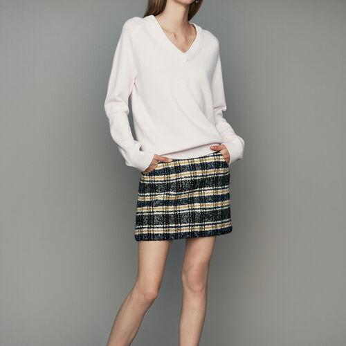 Jersey oversize de lana y cachemira : Malla color ECRU