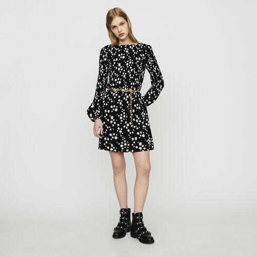 Vestido plisado estampado margarita : Vestidos color IMPRIME