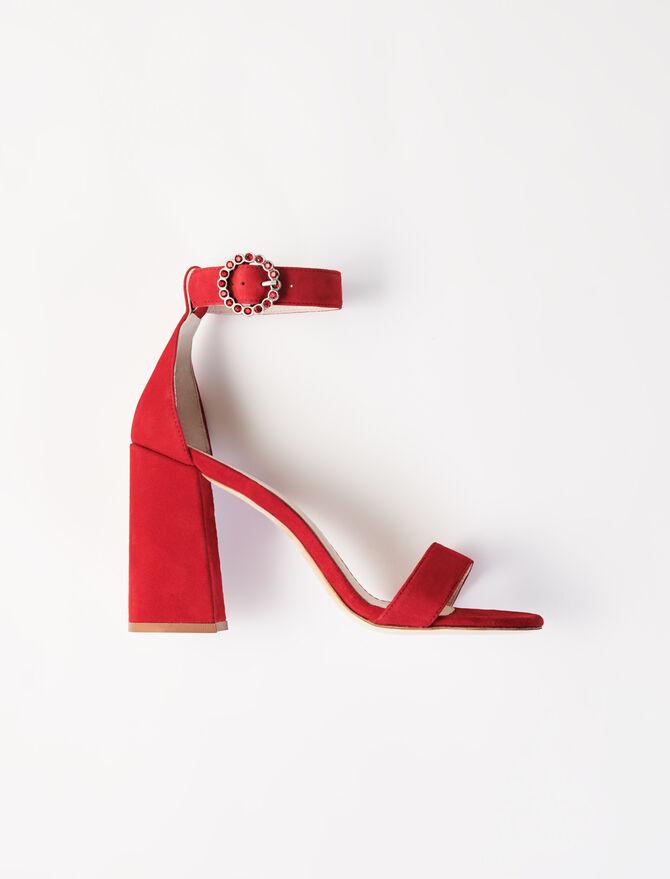 Sandalias de tacón alto con pulsera - Chanclas - MAJE