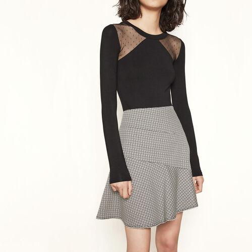 Falda corta a cuadros : Faldas y shorts color Jacquard