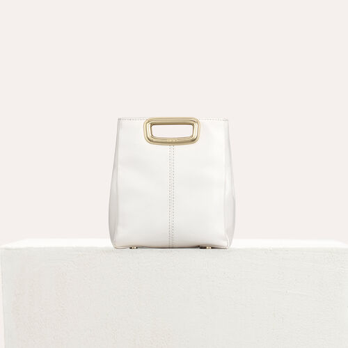 Bolso M Mini Skin de cuero y metal : M Mini color Blanco
