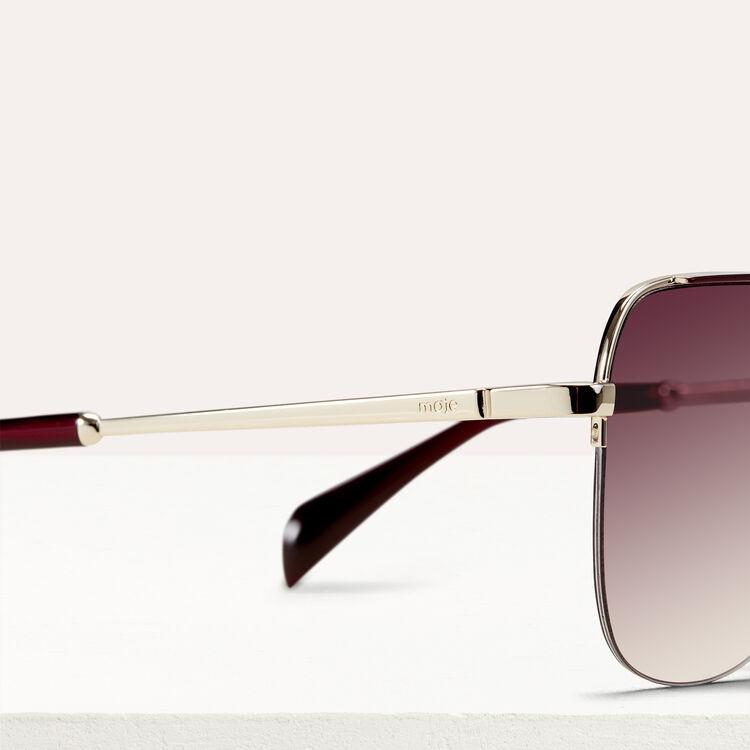 Gafas de sol tipo piloto : Gafas color Burdeos