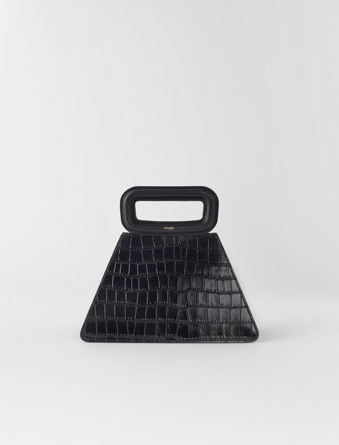 Bolso pirámide con asa de cuero -  - MAJE