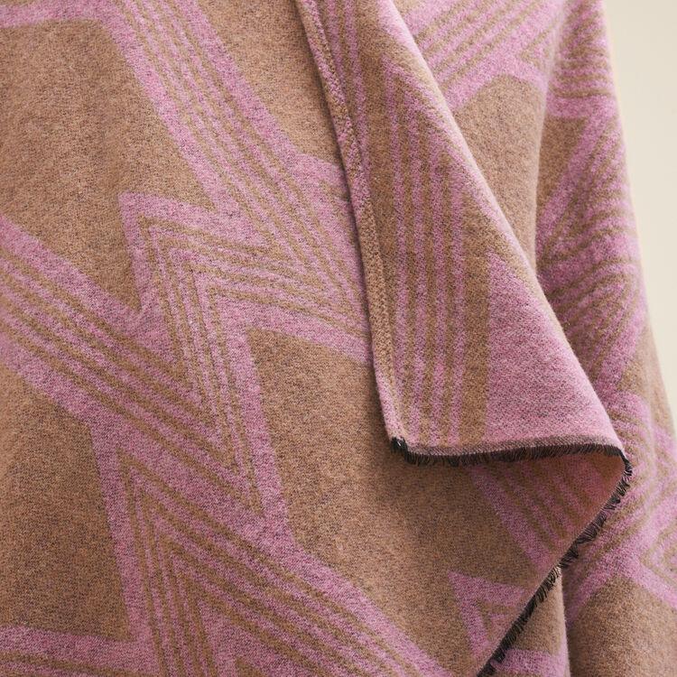 Poncho con estampado M : Accesorios color Rosa Claro