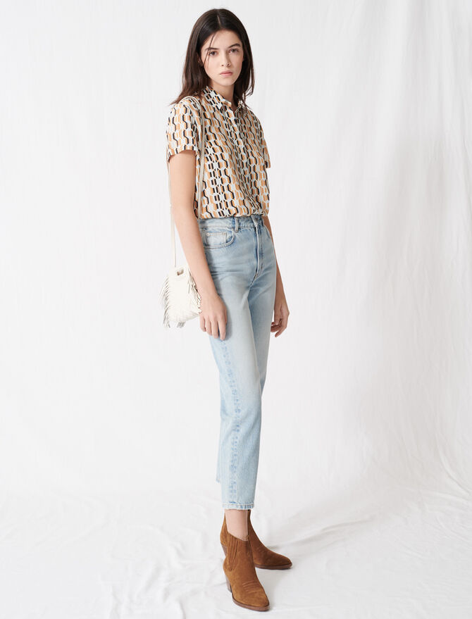Vaquero tiro alto estilo «mom» - Pantalones y Jeans - MAJE