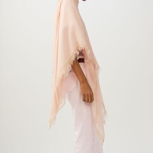 Poncho con galones de Lurex : Pañuelos & Ponchos color Rosa