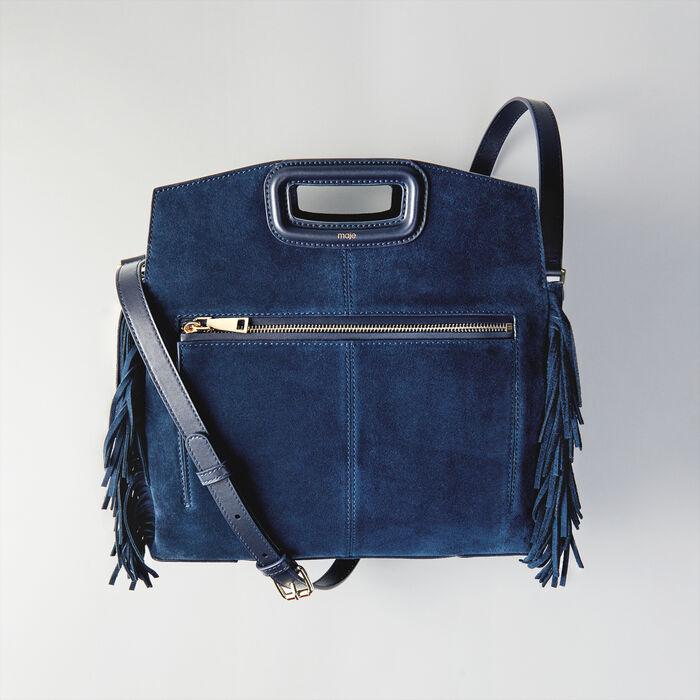 Bolso M Walk de gamuza : Totes & M Walk color Azul Marino