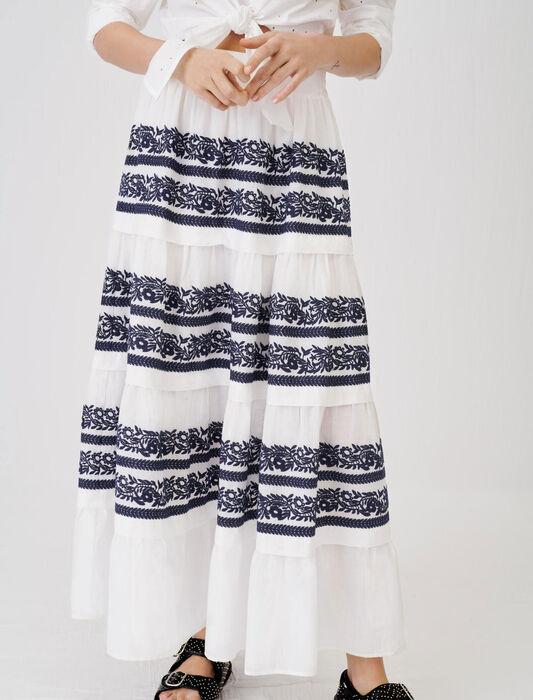 Falda totalmente bordada : Faldas y shorts color Azul Marino