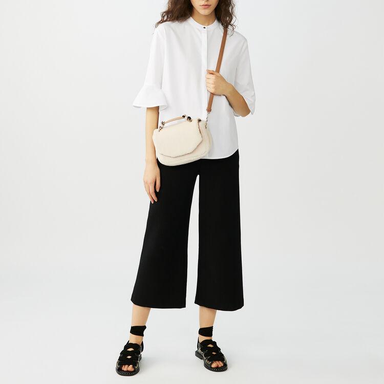 Poplin top : Camisas color Blanco
