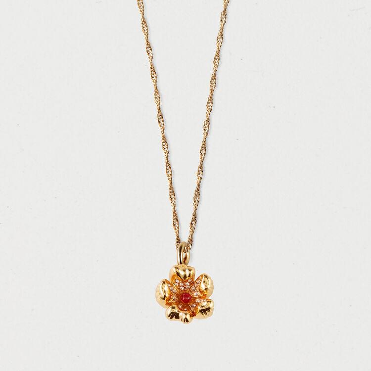 Collar con flor roja : Bisuteria color OR