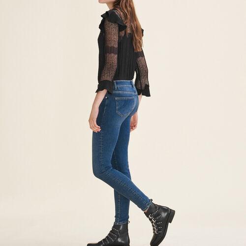 Vaquero ajustado descolorido : Pantalones y vaqueros color Azul