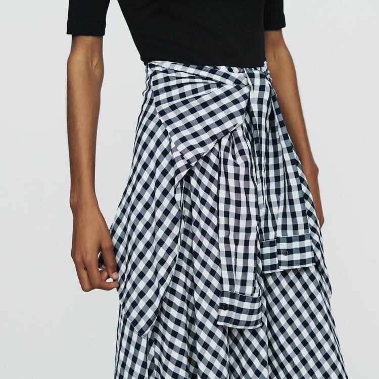 Vestido midi bimateria : Vestidos color CARREAUX