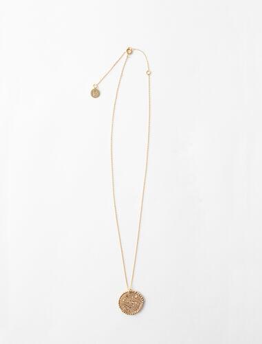 Collar de signo del Zodíaco Piscis : Bisuteria color Latón Envejecido