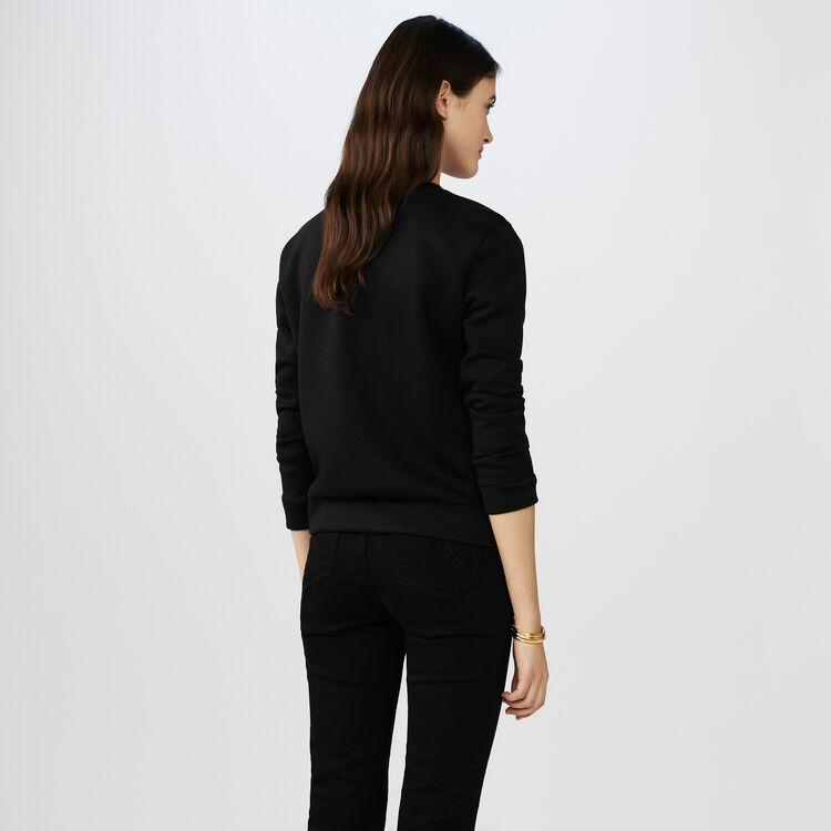 Sudadera con corazón bordado : T-Shirts color Negro