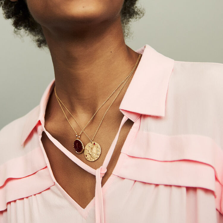 Shirt collar blouse : Tops color LILA
