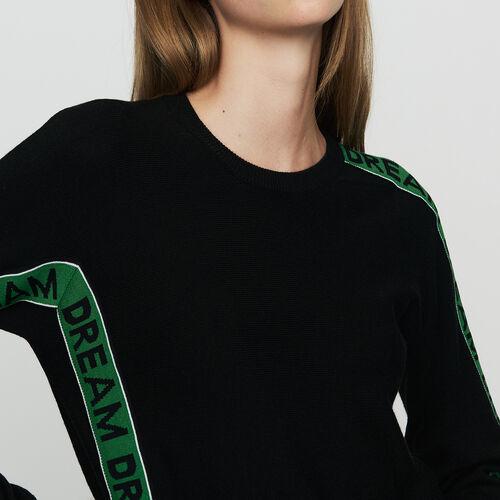Jersey oversize con texto : Malla color Negro