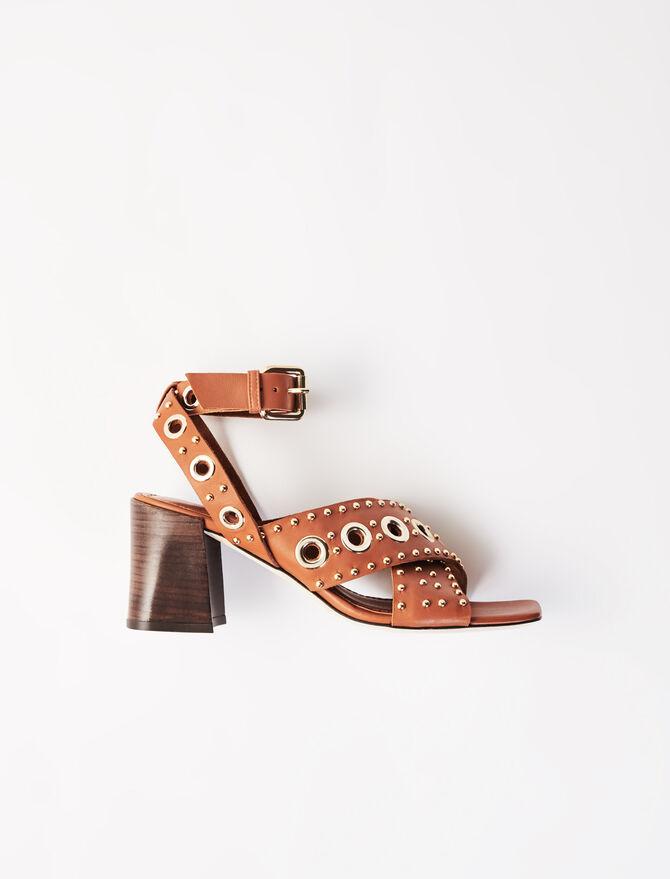 Sandalias de tacón con tachuelas - Chanclas - MAJE