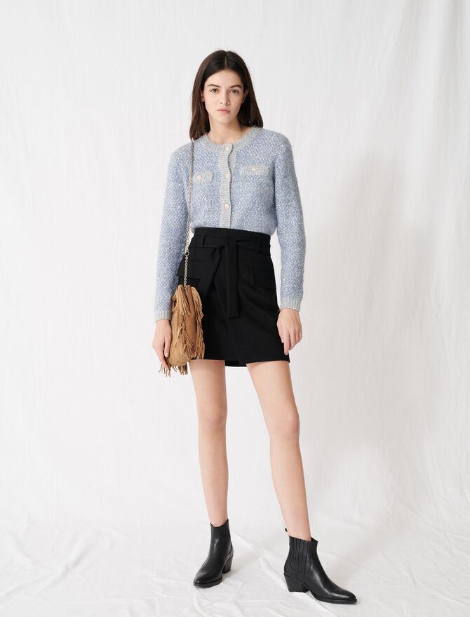 Falda corta estilo cruzado - Faldas y shorts - MAJE