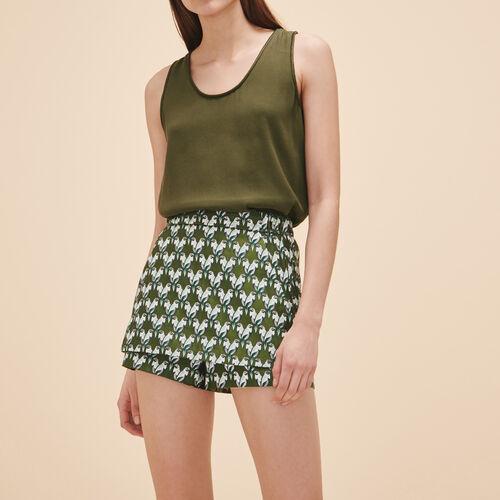Falda pantalón de jacquard : Faldas y shorts color Jacquard
