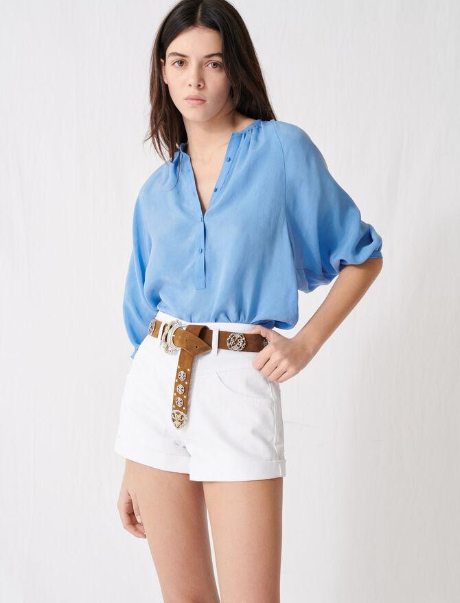 Short vaquero con cinturón - Faldas y shorts - MAJE