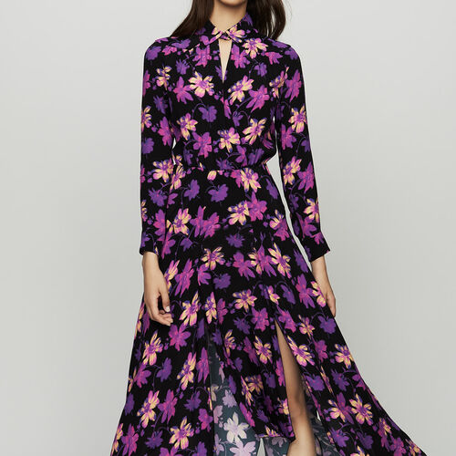 Vestido asimétrico estampado floral : Vestidos color Estampado