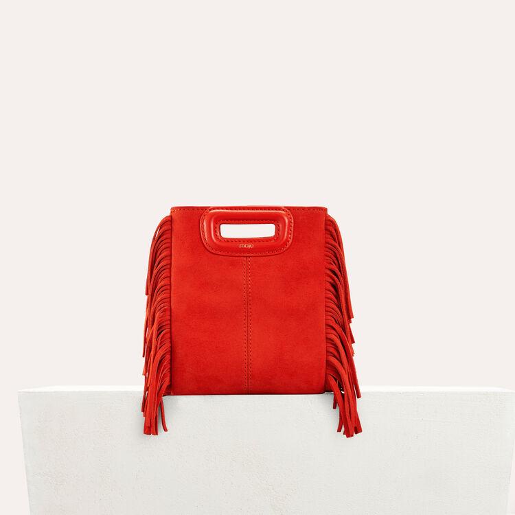 M minibolso de ante con flecos : M Mini color Rojo