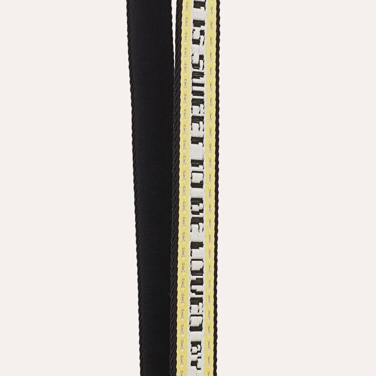 Bandolera en tejido Jacquard : Bandoleras color Amarillo