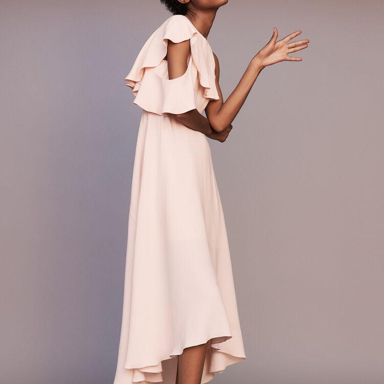 Vestido largo asimétrico sin mangas : Prêt-à-porter color PECHE