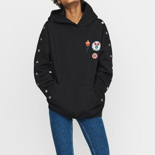 Sudadera con capucha : Sudareras color Negro