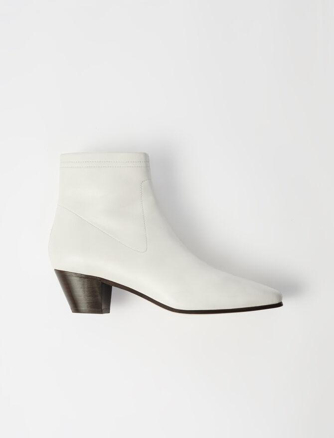 Botines calcetín de piel - Botas y Botines - MAJE