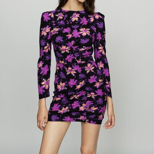 Vestido drapeado estampado floral : Esta semana color Estampado